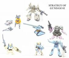 Bandai SOG Strategy of Gundam 2 Figure Figurine - Set of 7
