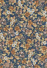 Tissu thermocollant Feuille A4 Fleurs Iron-on patch Fabric A4 Floral Earth