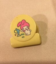 Vintage 1977 Sanrio MY MELODY MINI CHARACTER  CLIP Yellow Trinket