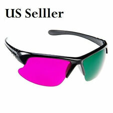 2 X 3D Magenta/Green 3 D Glasses for watching 3D Movies and Playing Games (2pcs)
