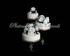 3 TIER CASCADE WEDDING CAKE STAND (STYLE R304)