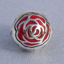 Authentic Pandora Silver Belle's Enchanted Rose Disney Charm - 791575EN09