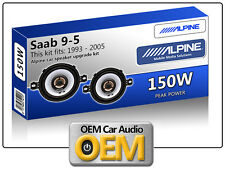 "Saab 9.5 Front Dash speakers Alpine 3.5"" 87cm car speaker kit 150W Max Power"