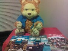 TJ Bearytales Playskool/Hasbro ANIMATED BEAR 2 Cartridges  3 Books Works Great