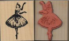 Tampon Timbre en bois Danseuse Wooden Stamp Dancer