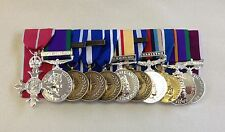 Court Mounted Full Size Medals, MBE, GSM, NATO, Iraq, Afg, Jubilee, ACSM, LSGC