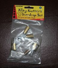 "Kemper Klay cutters, plunge style TEARDROP cutter set from 3/8"" to 3/4"""