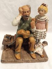 "1979 Norman Rockwell Figurine ""The Cobbler""  EUC"