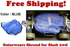 Traxxas Slash 2wd ESC Receiver Chassis Shroud by Outerwears 20-2591-02 BLUE