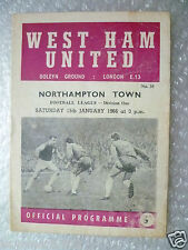 1966 WEST HAM UNITED v NORTHAMPTON TOWN (League Division One) 15 Jan