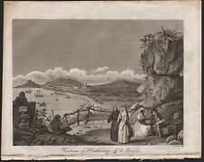 1809 antique print-costume de st catherine's, off the brazils