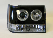 Jeep Grand Cherokee 93-98 Glossy Black Projector Halo Angel Eye Headlights