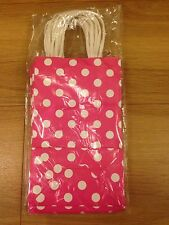 Pink Polka Dotty Gift Bags With Handles 1 Pack/10 Bags