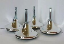 8 Pack 45mm Chrome Mushroom Gliders Including Sockets. Furniture/Bed Feet/Legs