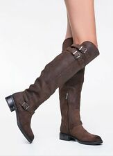 NEW SZ 6 SAM EDELMAN CIRCUS REILY  BROWN TALL LEATHER SUEDE BOOTS OVER KNEE HIGH