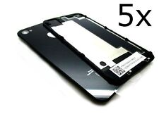 5 X Replacement Rear Glass Back Cover Battery Door For iphone 4S A1387 Black