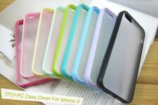 Wholesale 10x TPU Bumper with Matte Clear Back Hard Case Cover for iPhone 5 / 5s