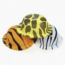 Lot of 12 Jungle Safari Animal Print Derby Hats Party Favors