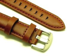 20mm Brown Quality Smooth Leather Replacement Watch Strap - Fossil 20 Watches