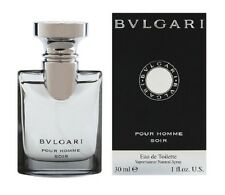 BVLGARI SOIR pour homme 1.0 oz EDT Spray Mens Cologne Bulgari NEW 30 ml NIB