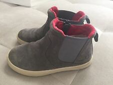 Ugg Toddler Boys Gray Suede Bootie Sneakers Shoes Size 12