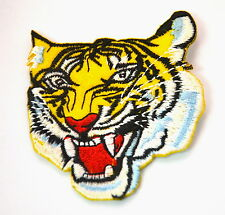 TIGER HEAD FIERCE ROAR TATTOO Embroidered Sew Iron On Cloth Patch Badge APPLIQUE