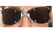 VINTAGE CHANEL Sun Glasses SILVER COLOR FRAME    Vintage Rare Excellent PARIS