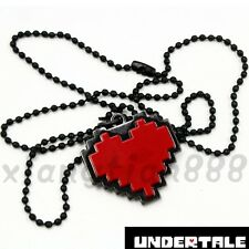 1PCS Anime Undertale Red Heart Necklace Pendant Cosplay Costume Otaku