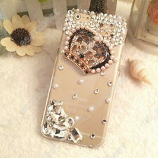 FOR iPHONE/SAMSUNG/LG LUXURY 3D CRYSTAL DIAMOND CASE BLING DIAMANTE HARD COVER