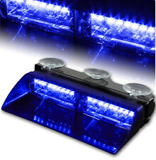 16 LED Blue Car Police Strobe Flash Light Dash Emergency Warning Flashing Lights