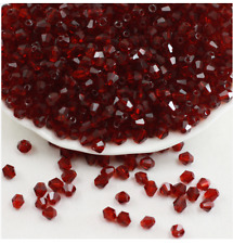 50pcs wine red exquisite Glass Crystal 6mm Bicone Beads loose beads