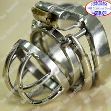 HOT Stainless Steel Polishing Chastity Nail Ring Core Arc Ring Cage Hide Lock