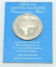 UNITED NATIONS OFFICIAL 25TH ANNIVERSARY COMMEMORATIVE MEDAL Human Rights C1997