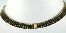 HIGH QUALITY SHINY PERFECT ITALY 14K GOLD CLEOPATRA BIB NECKLACE 21.2 GRAMS