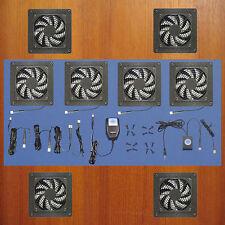 Mega-fan 4-Zone 12-volt trigger-controlled AV Cabinet Home Theater cooling fans