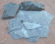 20 Stück Schieferplatten grau-schwarz,ca 0,5 mm dick, # 4, Größen von 10 - 40 cm