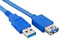 5Gbps Gigabit Super Speed USB3.0 USB 3.0 Extension Cable Male - Female Plug Lead