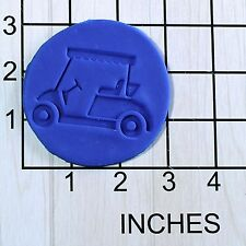 Golf Cart Fondant Cookie Cutter AND Stamp #1639