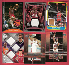 MICHAEL JORDAN RC GAME USED LEBRON JAMES DR J 3 JERSEY CARD SHAQ TIM DUNCAN YAO