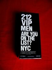 212 Vip by Carolina Herrera 3.4 oz EDT Cologne Spray for Men New in Box