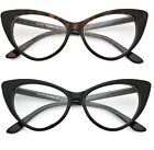 Nikita Black Cat Eye Clear Lens Glasses Super Retro Womens Fashion