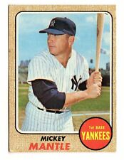 1968 TOPPS # 280 MICKEY MANTLE - G/VG CREASED