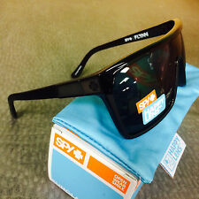 NEW SPY FLYNN BLACK MATTE BLACK HAPPY GREY GREEN MX SURF SNOW SPORTS SUNGLASSES