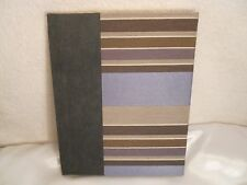Molly West Handbound Blank Journal Book Suede and Fabric Cover Gold Edge Paper