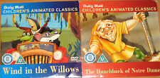Wind In The Willows / The Hunchback Of Notre Dame (2 x Animated DVDs)