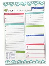 """Daily Planning System Pad Teal 6x9"""" Tear Off Planning Pad Organizer To Do List"""