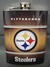PITTSBURGH STEELERS CLASSIC LOGO STAINLESS STEEL 8oz FLASK NFL