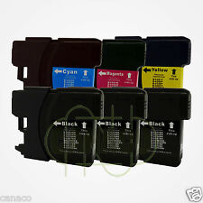 6 LC61 Ink Cartridge Set for Brother MFC-490CW Printer