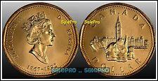 CANADA 1992 CANADIAN PARLIAMENT QUEEN ELIZABETH RARE LOONIE $1 DOLLAR COIN UNC