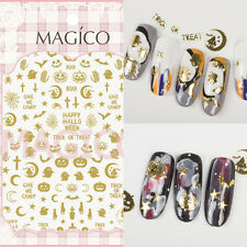 Ultra-thin Adhesive 3D Nail Art Sticker Manicure Decor Decal Ghost Moon Tips DIY
